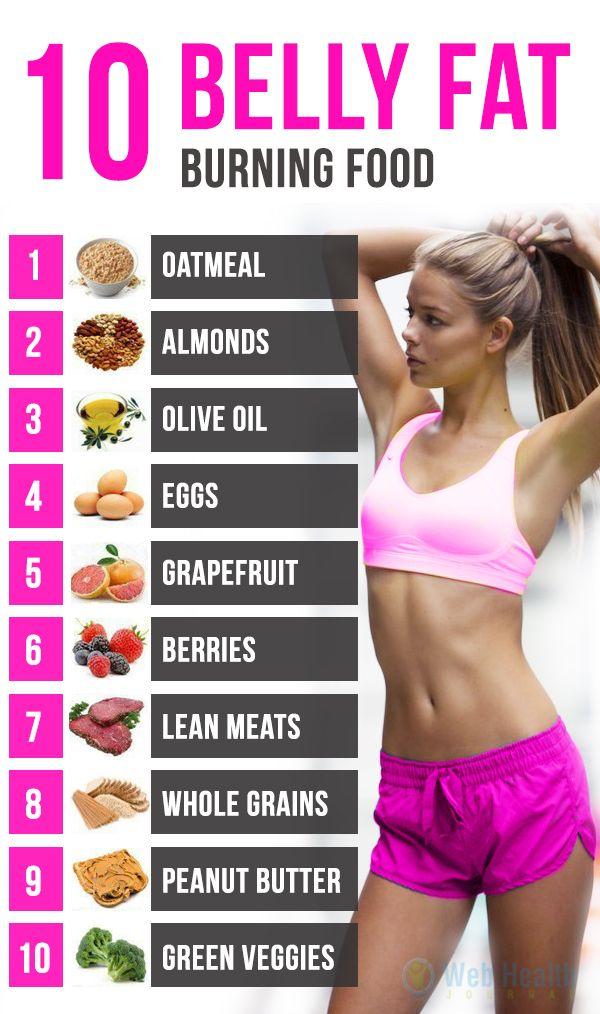10 Belly Fat Burning Food