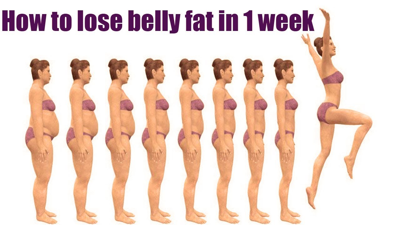 10 Proven Ways To Lose Belly Fats In 1 Week